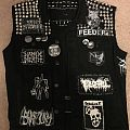 Blasphemy - Battle Jacket - Black and white vest