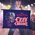 Ozzy Osbourne Ultimate Sin Tour Patch (1986) Dark Blue Border