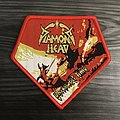 Diamond Head Borrowed Time Woven Patch (Red Border)