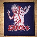 Vintage Exodus Bonded By Blood Woven Patch (Blue Border)