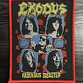 Exodus Fabulous Disaster Woven Patch (Red Border)