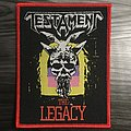 Testament The Legacy Woven Patch