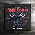 Night Demon Black Widow Woven Patch (Black Border)