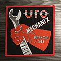 Vintage UFO Mechanix Tour Woven Patch (Red Border)