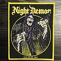 Night Demon London Woven Patch