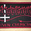 Possessed Seven Churches Woven Patch (Red Border)