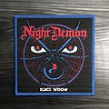 Night Demon Black Widow Woven Patch (Blue Border)
