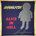Vintage Annihilator Alice In Hell Woven Patch