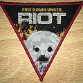 Riot Fire Down Under Woven Patch