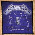 Vintage Metallica Ride The Lightning Woven Patch