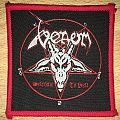 Vintage Venom Welcome To Hell Woven Patch (Red Border)