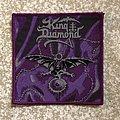 King Diamond The Eye Woven Patch (Purple Border)