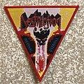 Destruction Infernal Overkill Triangle Woven Patch (Red Border)