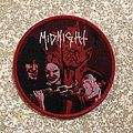 Midnight No Mercy For Mayhem Woven Patch (Red Border)