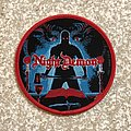 Night Demon Curse Of The Damned Woven Patch (Red Border)