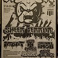 Sheer Terror show flier Other Collectable