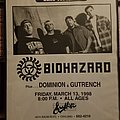 Biohazard show flier Other Collectable