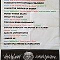 Waking The Cadaver Set List