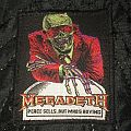 Megadeth peaces sells mis print Patch