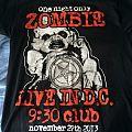 Rob Zombie - Washington DC 9:30 Club 2013 event tour shirt