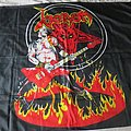 Venom cronos on fire original 80's flag Other Collectable