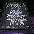 "Impiety ""Skullfucking Armageddon"" official woven patch"