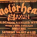 Motörhead H.M.B.D gig poster Bingley Hall 1980 Other Collectable