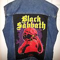 BLACK SABBATH - Born Again t-shirt turned into back patch *in progress*