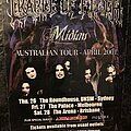 Cradle Of Filth - Other Collectable - Midian Oz Tour Poster