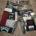 assorted crust punk pants/shorts