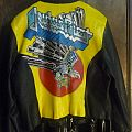 Screaming for Vengeance hand painted leather jacket, Women's M to L