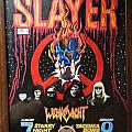 Slayer South of Heaven tour flyer. Hand paint embellished