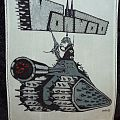 """Voivod - Patch - Voivod tank patch, hand painted in color, 8.5"""" by 10 3/4"""" by John Duffy"""