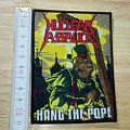nuclear assault - patch - hang the pope