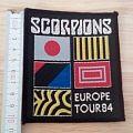 scorpions - patch - world tour 84