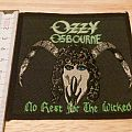 ozzy osbourne - patch - no rest for the wicked