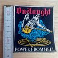 onslaught - rubber - patch - power from hell