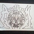 abruptum - sticker - early 90s