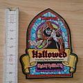 iron maiden - patch - shape - hallowed