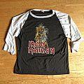 "Iron Maiden ""S/T"" baseball shirt"