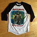 """Iron Maiden """"Stranger In A Strange Land"""" baseball shirt"""