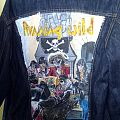 Handpainted denim vest Port Royal Running Wild  Battle Jacket