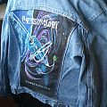 Crimson Glory hand painted denim jacket