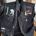 Amebix - Battle Jacket - Old painted and patched denim and leather vest
