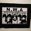 N.W.A. - Patch - N.W.A. - The world's most dangerous group printed D.I.Y. patch