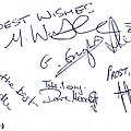 Skyclad - Other Collectable - Skyclad autographed card