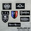 Embroidered patch with logo of the French Black Metal bands