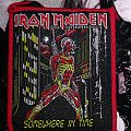 Iron Maiden Somewhere In Time vintage red border patch