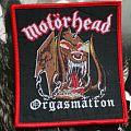 Motörhead Orgasmatron Boot Patch
