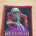 Megadeth Peace Sells red border patch